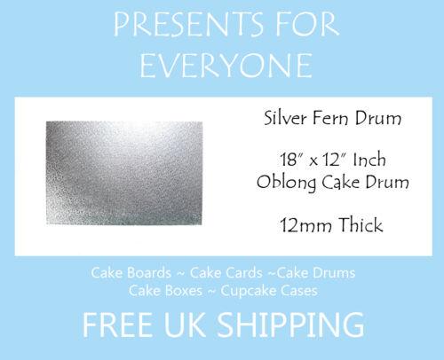 "18/"" x 12/"" Inch Oblong Rectangular Wedding Birthday Cake Drum Board 12mm"