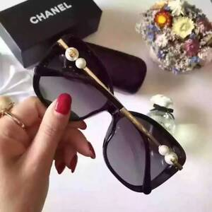 602fa63cff9 CHANEL CH 5339 Pearl Black Gold Polarized Women Sunglasses Frames ...