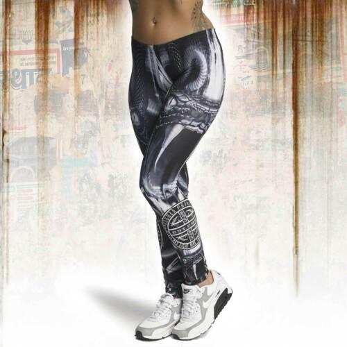 Weiß Neue Yakuza Damen Allover Snake II Leggings