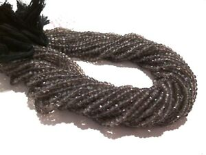 5-Strands-Lot-Natural-Smoky-Quartz-Rondelle-Faceted-4-4-5mm-13-034-inch-Beads