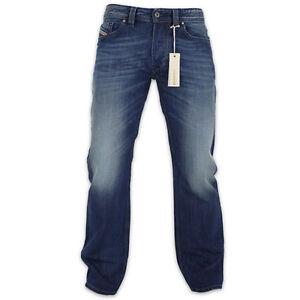 Diesel-Jeans-Diesel-Larkee-Linea-Dritta-Jeans-8XR-Blu-Nuovo-con-Etichetta