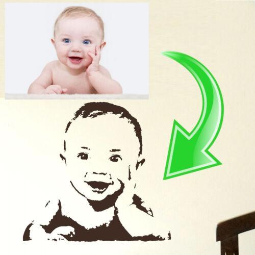 Custom Family Photo Wall Sticker Home Transfer Kids Decal Decor Stencil Graphic