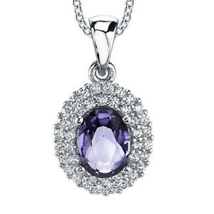 Sterling-Silver-Cubic-Zirconia-Oval-Tanzanite-Pendant-Necklace-with-Chain