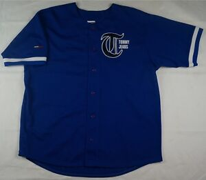 2541039db Rare VTG TOMMY JEANS Spell Out #88 Baseball Jersey Shirt 90s ...