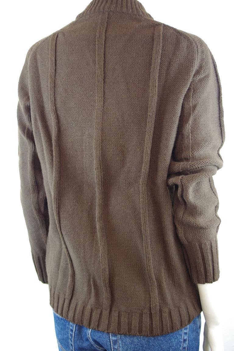 Damen Pullover braun Gr Gr Gr L NOS 80er True Vintage 80s Qualitätsfasern Pulli DRALON | Marke  866ff8