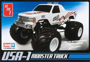 AMT-USA-1-Chevy-Monster-Truck-snap-tite-1-32-model-kit-new-672