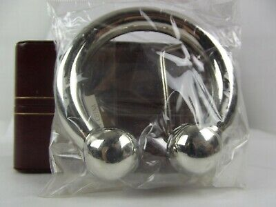 New Belt Buckle Horse Shoe Septum Ring Zink Alloy Chrome Plated