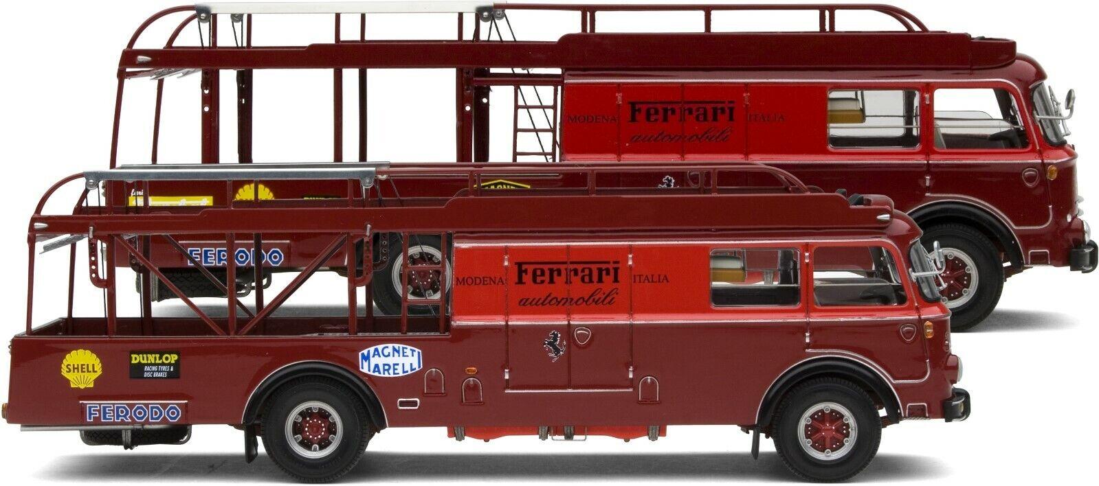 Exoto 43   Speciale Set II   Scuderia Ferrari Auto da Corsa Transporters