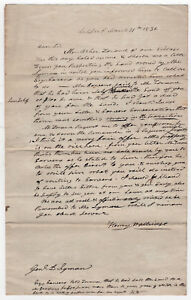 1836 Document Lockport New York Ravenna Ohio Darius Lyman Légal Henry Walbridge EwmM242f-09152903-554149920