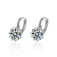 Mujeres Fiesta encanto plata esterlina 925 Cojín Oreja Aro Pendientes de cristal austriaco