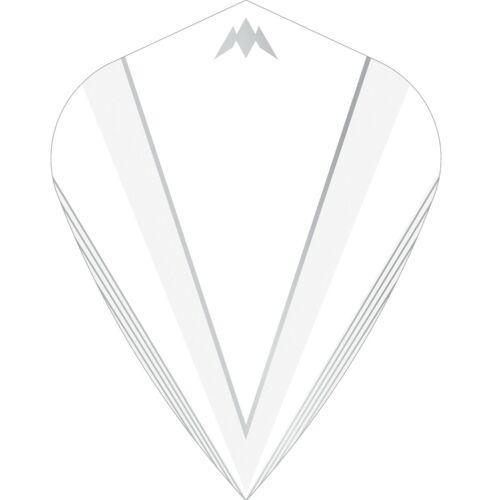 Kite Shape White Mission Shades Dart Flights 100 micron