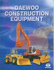 Equipment Brochure Daewoo Construction Product Line Overview C1996 E6314