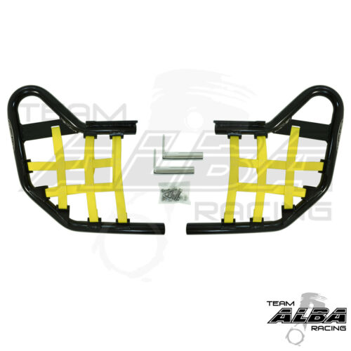 TRX 450R TRX450R Honda   Nerf Bars  Alba Racing  Black bar Yellow nets 218 T1 BY