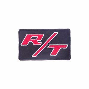 R/T LOGO IRON-ON PATCH Dodge, Charger, Challenger, Dart, Durango, Nitro