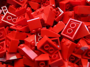 LEGO-Roof-Slopes-Tiles-RED-1x3-2x3-2x2-1x2-pack-of-100-pieces-BRAND-NEW