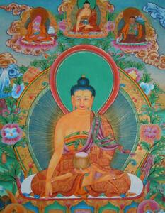 Traumhaftes MASTERPIECE Thangka Shakyamuni Buddha aus NEPAL 80x55cm