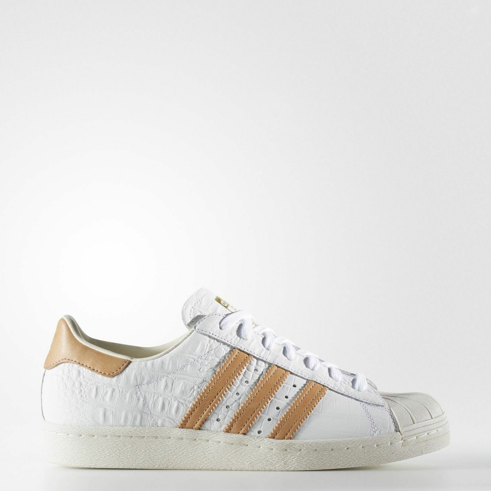New mens adidas superstar 80s shoes white cloud gold shell toe bb2229 men's