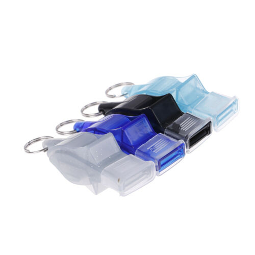 Outdoor sport plastic soccer basketball referee whistle with lanyard big soundsT