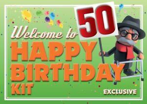 Welcome to 50 Birthday Funny Gift Kit Novelty 50th birthday joke present - Ipswich, United Kingdom - Welcome to 50 Birthday Funny Gift Kit Novelty 50th birthday joke present - Ipswich, United Kingdom