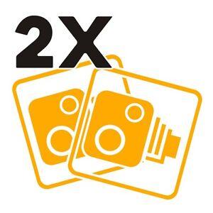 2X-Car-CCTV-Camera-Icon-Gold-Yellow-Car-Van-Taxi-Window-Bumper-Sticker-Dash-Cam