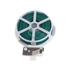 30m 50m Garden Twist Tie Wire Cable Reel With Cutter Gardening ...