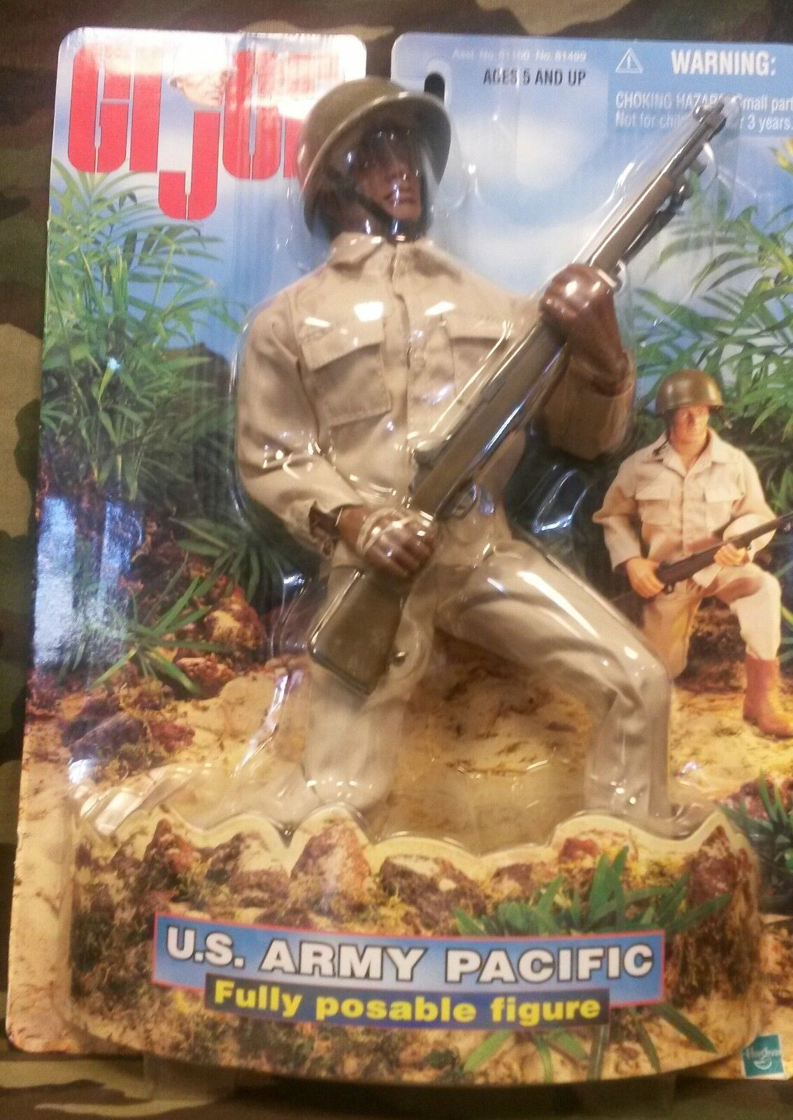 GI Joe US Army Pacific 1998 Hasbro Adult Collectible Fully Poseale Armed Service
