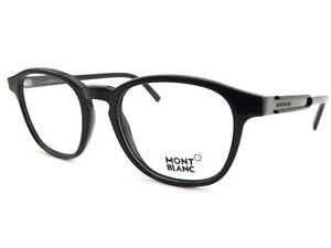MONT-BLANC-men-039-s-Shiny-Black-Round-Spectacles-Glasses-Frame-MB0632-001