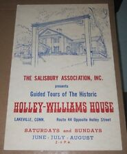 VINTAGE POSTER - HOLLY-WILLIAMS HOUSE TOUR LAKEVILLE CT - SALISBURY ASSOCIATION