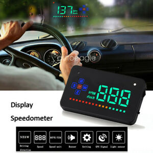 "3.5"" Schermo Head Up Display A2 HUD Overspeed Allarme Digitale Auto Tachimetro"