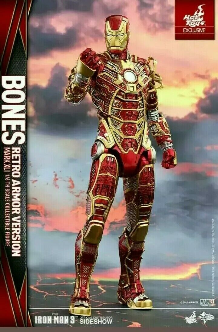 IRON MAN 3 HOT TOYS MMS 412 - Bones Mark XLI (Retro Armor Version) 1 6 Figure