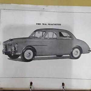 vintage mg magnette workshop service manual 1950 ebay rh ebay com mg magnette za workshop manual MG Magnette Coupe