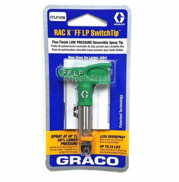 Graco FFLP108 Fine Finish Low Pressure RAC X Reversible Tip for Airless Paint Spray Guns
