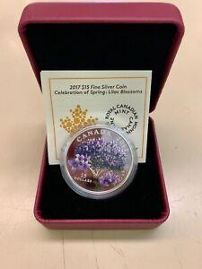 2017-Canada-15-Fine-Silver-Coin-Lilac-Blossoms