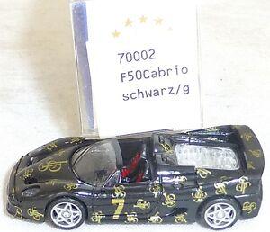 F50-Ferrari-Cabriolet-JPS-noir-Mesureur-EUROMODELL-70002-h0-1-87-OVP-ll1-a