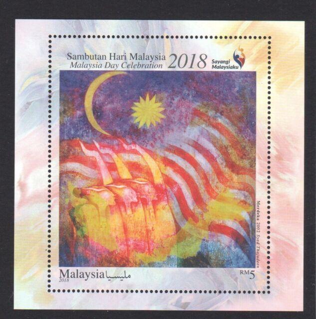 MALAYSIA 2018 MALAYSIA DAY CELEBRATION (MERDEKA PAINTING) SOUVENIR SHEET 1 STAMP