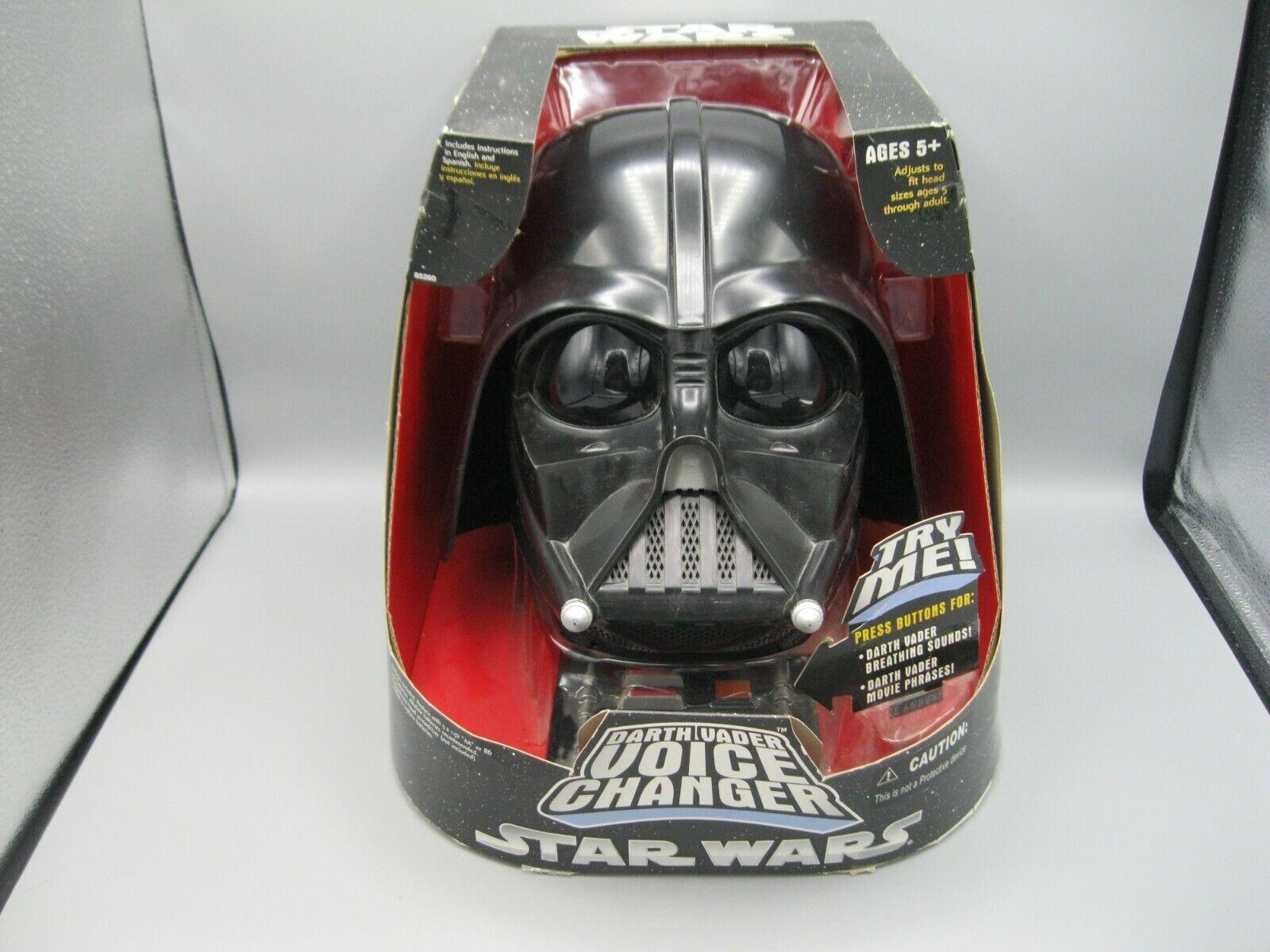 2004 Hasbro estrella guerras Trilogy Darth Vader Sith Voice Changer Helmet NIB