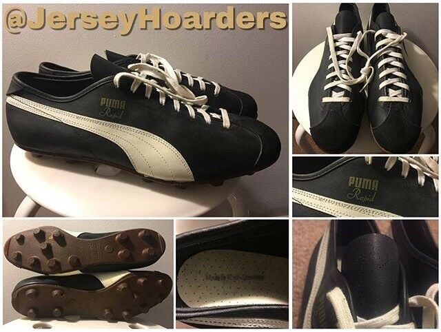 NEW VINTAGE 60's PUMA RAPID MADE IN WEST GERMANY SOCCER SOCCER SOCCER FOOTBALL CLEATS 11 RARE f32ab7