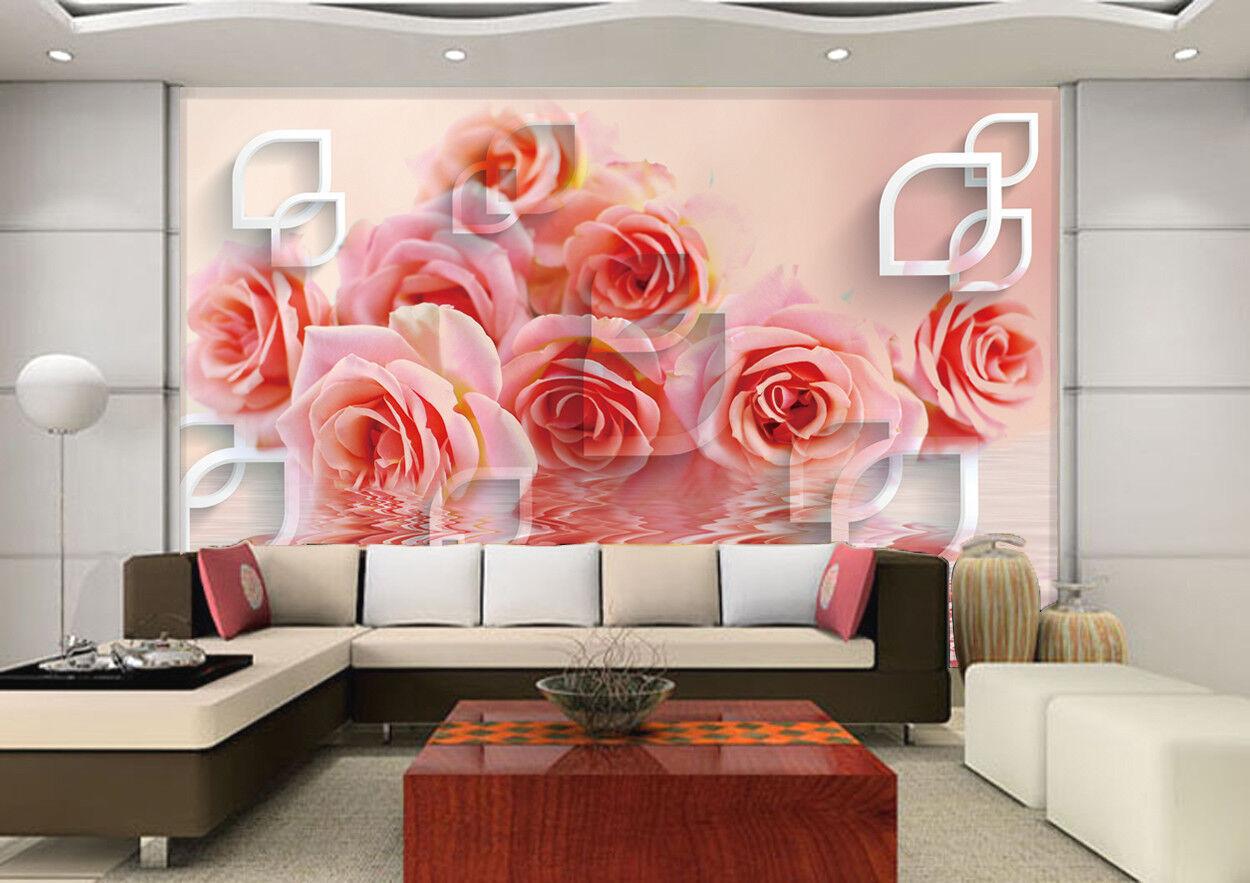 3D bluemen Wasser Muster 8903 Tapete Wandgemälde Tapeten Bild Familie DE Jenny