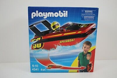 PLAYMOBIL #4341 SPEEDBOAT TO GO With Driver BRAND NEW /& SEALED