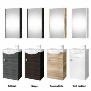 Détails sur Meuble Set Wc Invités Meuble-Lavabo Lavabo Céramique Armoire de  Toilette