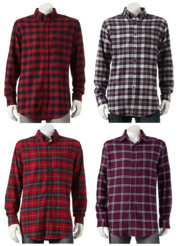 Croft /& Barrow NEW Mens Big /& Tall Signature Flannel Button-Down Plaid Shirt $42