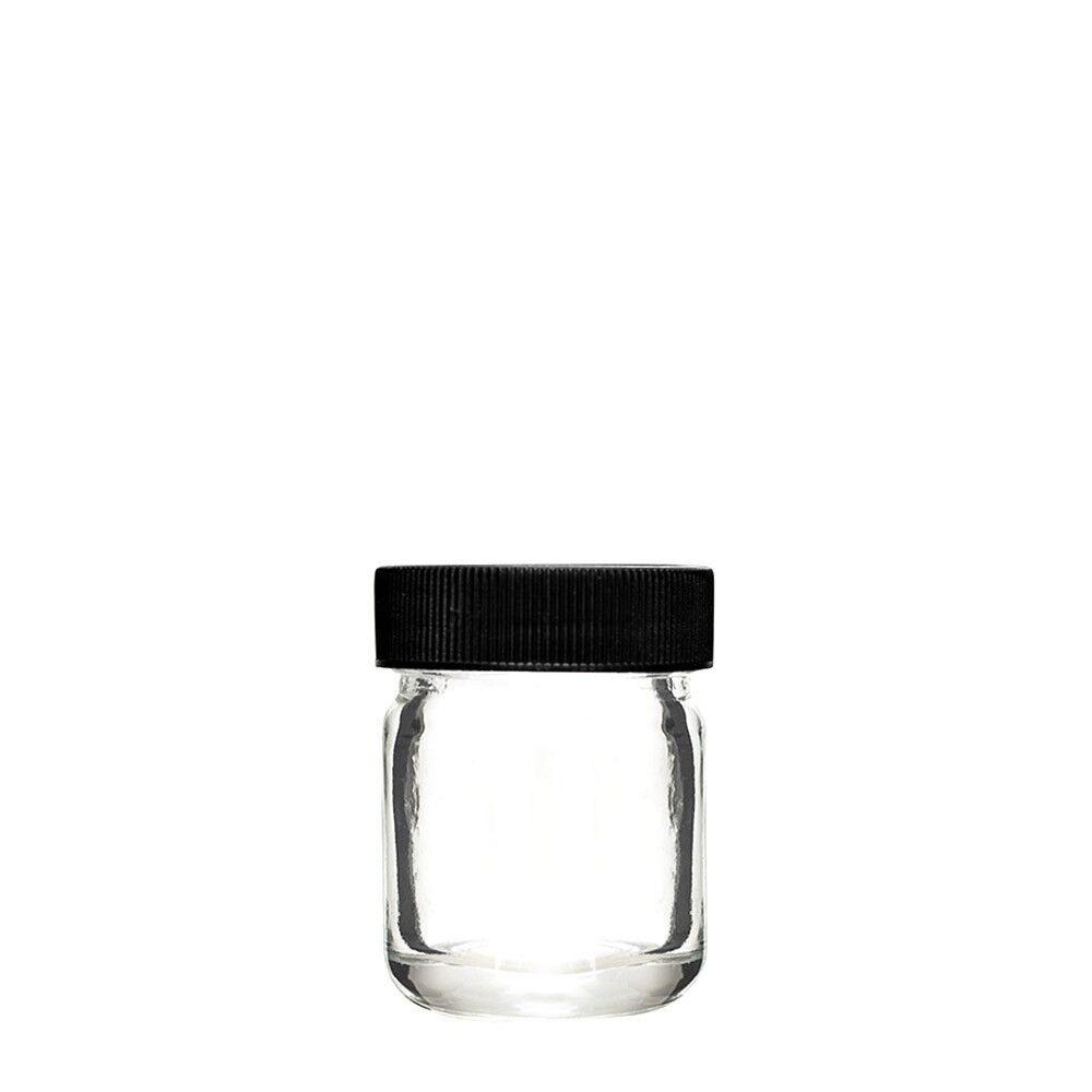 Frascos De Vidrio De 1oz con tapa de rosca de contenedor Cap - 252 Case