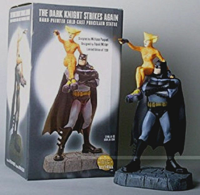 Dk2 The Dark Knight Strikes Again Batman & Catgirl Statue