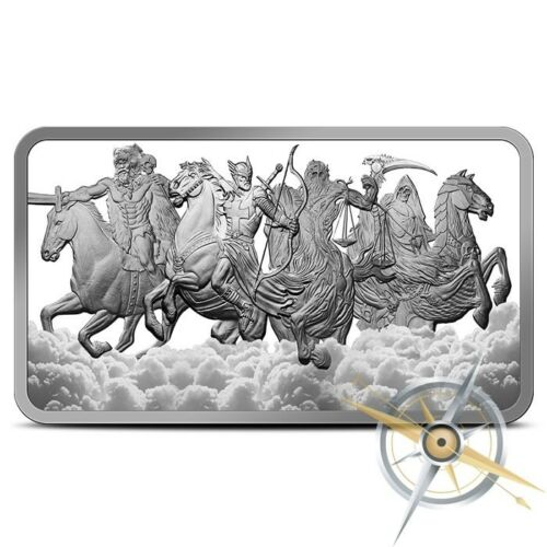 IN-STOCK!! 10 oz Four Horsemen Of The Apocalypse SILVER BAR .999 4 Horseman