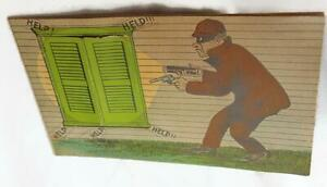 Antique-Burglar-Trade-Card-Two-Rivers-Druggist-Charles-F-Kirst-Wisconsin