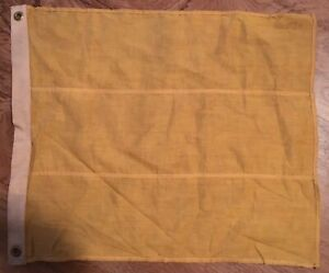 ANTIQUE-MARITIME-NAVY-SQUARE-SOLID-YELOW-SIGNAL-FLAG-17-034-X-20-034
