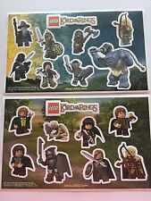 *RARE* 2012 LEGO Store LOTR Hobbit Promotional Sticker Sheets A and B