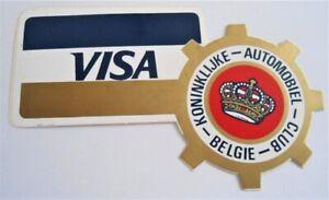 Aufkleber-Plakette Koninklijke Automobiel Club Belgie Visa Car Club Belgium