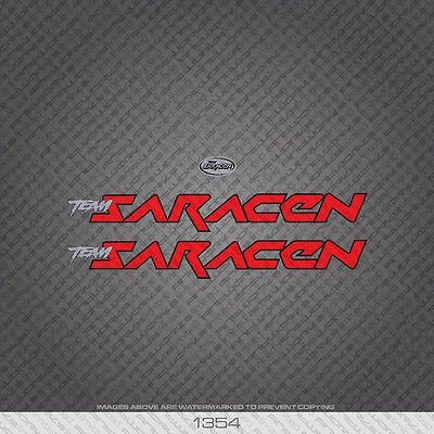 Decals Red With Black Keyline 01354 Saracen Bicycle Stickers Transfers