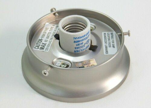Chrome and Sat N 4 inch Flush Mount Light Fixture Base Bronze Fitter Collar